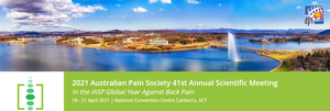 On behalf of the Australian Pain Society, it is with great pleasure that I invite you to join us in Canberra, Australia's Capital, for the 41st Annual Scientific Meeting from 18 - 21 April 2021